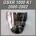 For Suzuki GSXR 1000 K1 2000 2002 00 01 02 Double Bubble Windshield/Windscreen Motorcycle Part Silver