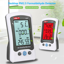 UNI-T A25F Desktop Formaldehyde PM2.5 Detector Air Quality Temperature Measurement Meter with LCD display Formaldehyde tester