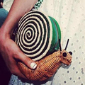 Personalized fashion brand design ladies mini snail shape woven shoulder bag clutch party casual messenger bag across-body purse