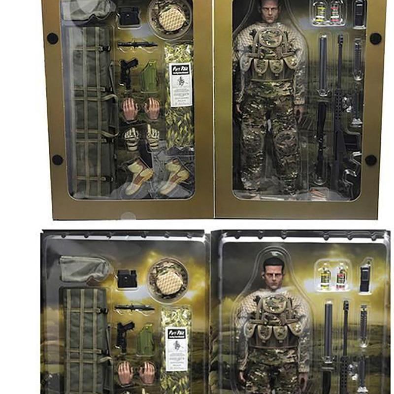 1/6 스케일 군사 액션 피규어 인형 유연한 12 인치 인형 정글 스나이퍼 군인 abs 모델 키즈 선물 완구 전체 공동 움직일 수있는-에서액션 & 장난감 숫자부터 완구 & 취미 의  그룹 2