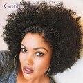 Transporte rápido brasileiro virgem curto cabelo humano lace front wigs glueless bob cut estilo kinky curly full lace wig para as mulheres negras