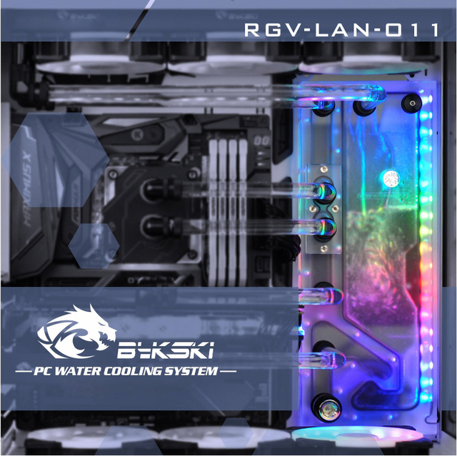 Bykski RGV LAN O11, נתיב מים לוחות ערכת עבור ליאן לי PC O11 דינמי מקרה, RBW נתיב מים לוח מעבד/GPU מים בלוק ערכת תכנית