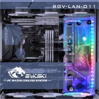 Bykski RGV LAN O11, Waterway Boards Kit For Lian Li PC O11 Dynamic Case, RBW Waterway Board CPU/GPU Water Block Program Kit