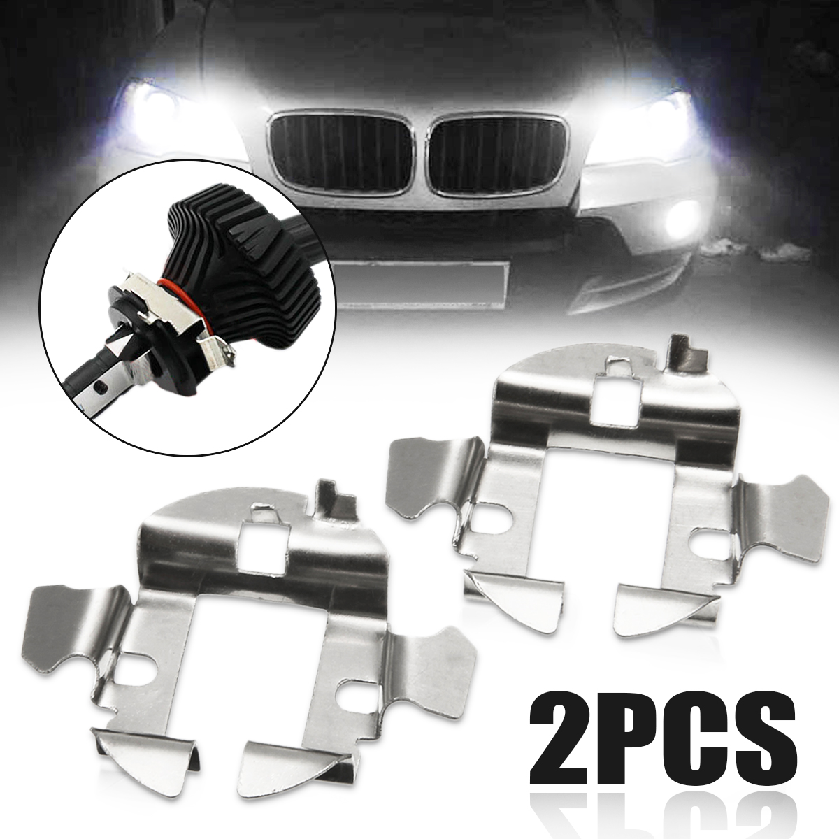 H7 HID Xenon Base Adapter Bulb Retainer Holder Clip for Audi A6 BMW 5 Series X5