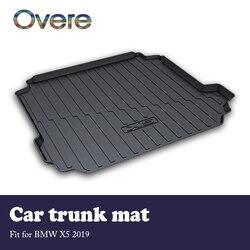 Overe 1Set Auto Cargo kofferbak mat Voor BMW X5 G05 2019 Auto-styling Anti-slip mat waterdicht tapijt Laadvloerbekleding Tray Accessoires