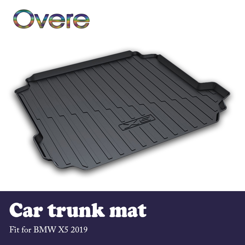 Overe 1Set Car Cargo Rear Trunk Mat For BMW X5 G05 2019 Car-styling Anti-slip Mat Waterproof Carpet Boot Liner Tray Accessories