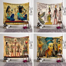 Ancient Egypt Mandala Tapestry Gold Cleopatra Wall Hanging Art Tapestries Home Decorative Throw Sheet Coverlet Beach Yoga Mat