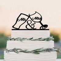 Mr Mrs Wedding Cake Topper Bride And Groom Drinking Cup Wedding Cake Topper Funny Wedding Cake