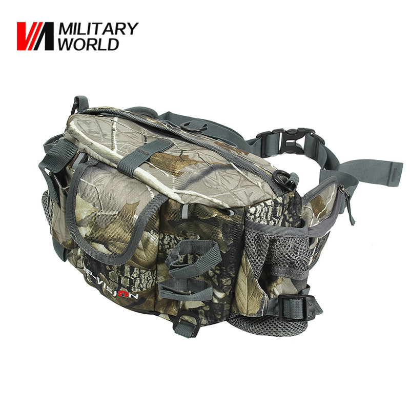 ФОТО Military Bionic Camouflage Fanny Pack Tactical Army Outdoor Shoulder Sports Waist Bag Multifunctional Fishing Hunting Bags