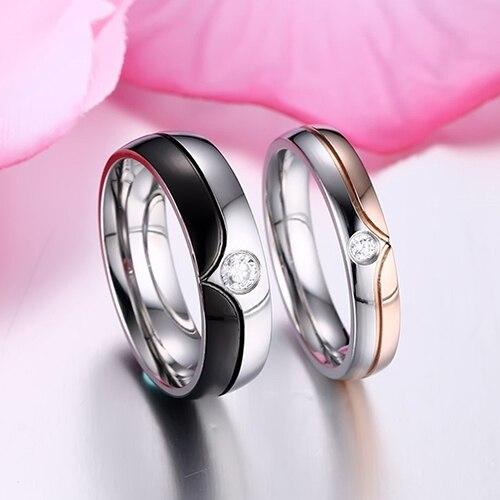 1 шт. Для мужчин Для женщин настоящая любовь роскошные свадебные браслет Обручение пара Promise Ring