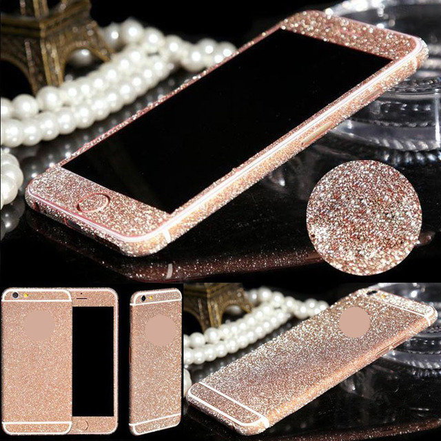 For iphone 6 6s Plus Bling 360 Degree Full Body Decal Skin Bling Glitter  Phone Protective Sticker Wrap Phone Cases High Quality 5a6922b36949