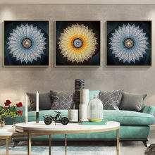 Wall canvas art abstract painting printed living room decoration poster and prints home decor canvas pictures flowers DYS126(China)