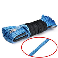 Winch Rope String Line Cable with Sheath Gray Synthetic Towing Rope 15m Car Wash Maintenance String for ATV UTV Off Road