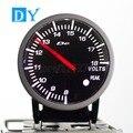 Alta Qualidade 2.5 POLEGADA 60 MM DY BF Medidor de Bateria de Carro Medidor Volt com cores Branco e Vermelho Luz carro de corrida voltímetro