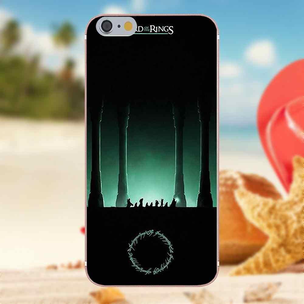 Мягкий чехол для телефона для iPhone X 4S 5S 5C SE 6 S 7 8 Plus Galaxy Note 5, 6, 8, S9 + большое ядро рrime alрha Властелин Колец плакат