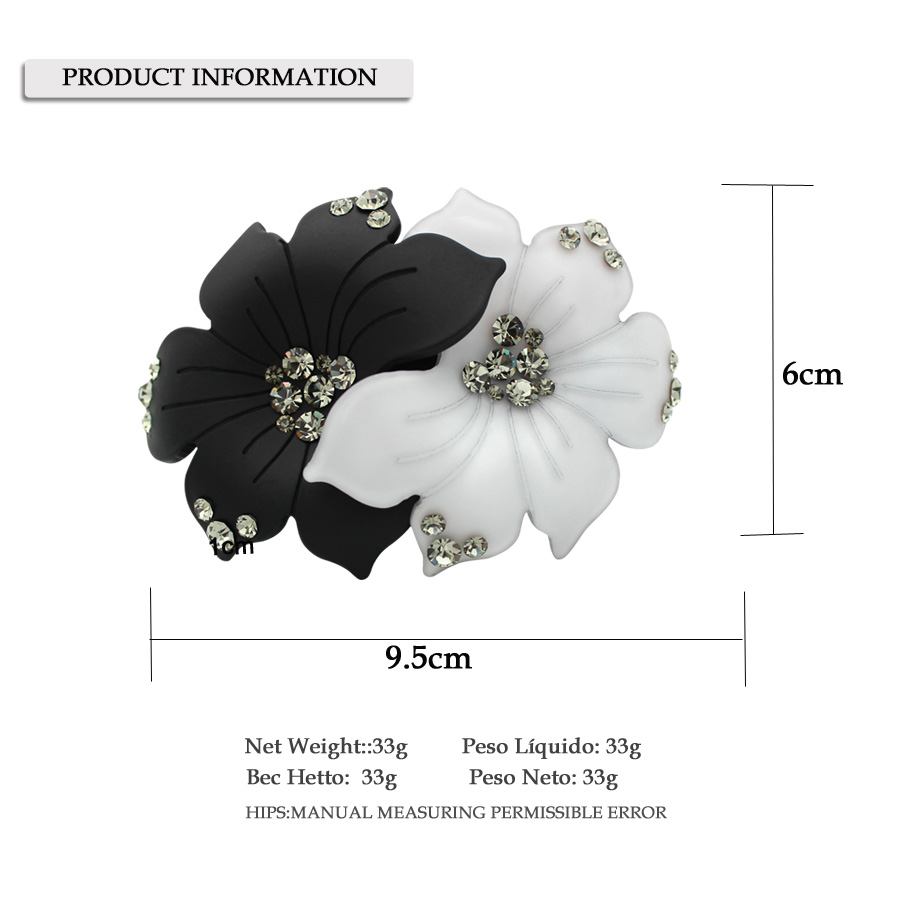 Pince à cheveux fleur - accessoire de cheveux - ornement de bijoux - Bijoux fantaisie - Photo 4