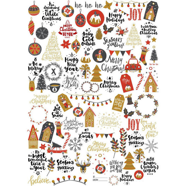 bullet journal stickers  2 pcs/lot Chirstmas Decoration Label Mohamm Planner DIY Sticker Pack ...