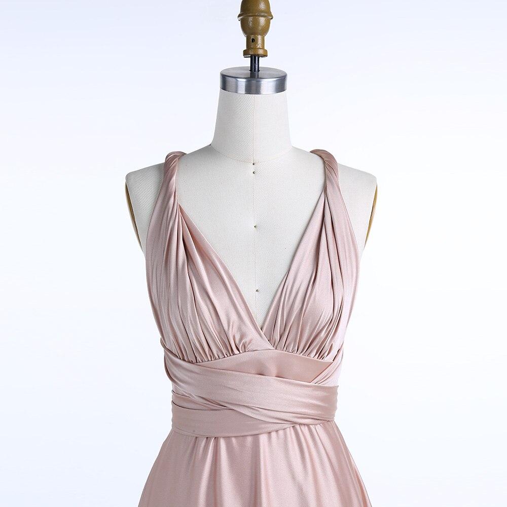 BeryLove longue robe de soirée Champagne 2019 bretelles entrecroisées pli Simple Satin robe grande taille plaine femmes formelle robe de bal - 3