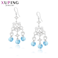 3b226bf7e Xuping Little Fresh Earrings Blue Rounded Crystals From Swarovski Fashion  Literary Styles Top Sale Jewelry S141