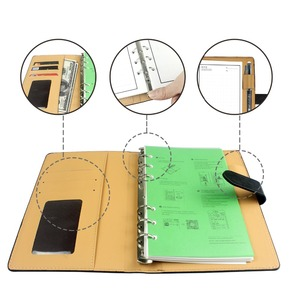 Image 5 - NEWYES A6 Black Leather Smart Reusable Erasable Notebook Microwave Wave Cloud Erase Paper Notepad Office School Supplies Gift