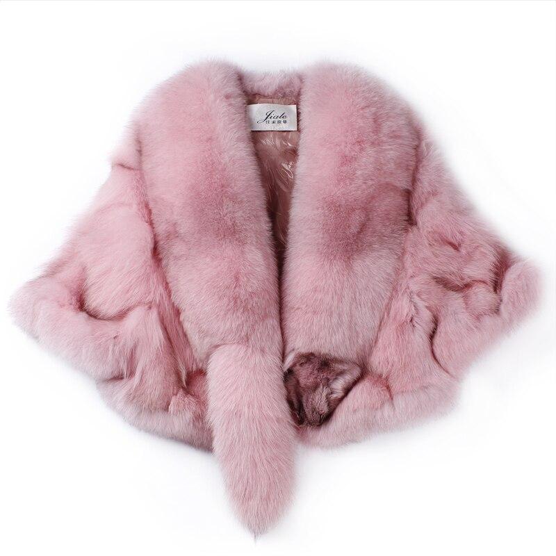 Manteau de fourrure de renard court paragraphe femme 2017 automne et hiver nouveau châle en cuir jambes leggings coréen Slim spécial