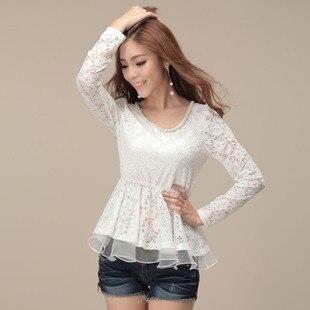 Women's summer plus size chiffon shirt mm top t-shirt female long-sleeve chiffon shirt