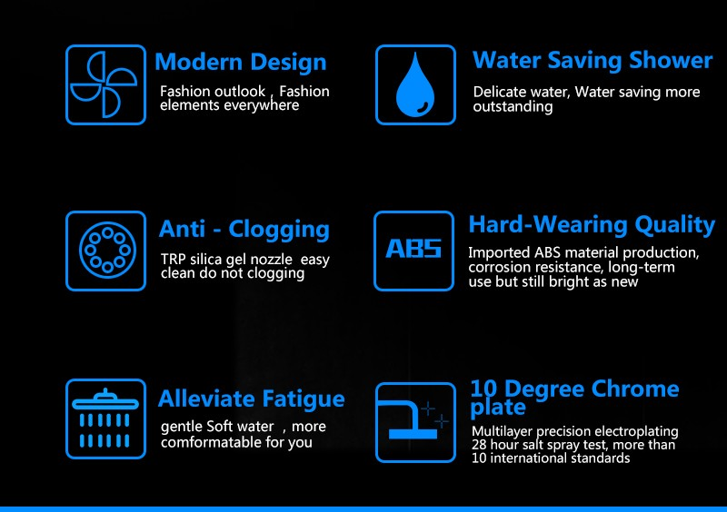 Rain Shower Head,9 Inch UltraTthin Regaderas Para Ducha,Banheiro Head Shower,Chuveiros Prysznic Duschkopf,Bathroom Showerhead (5)