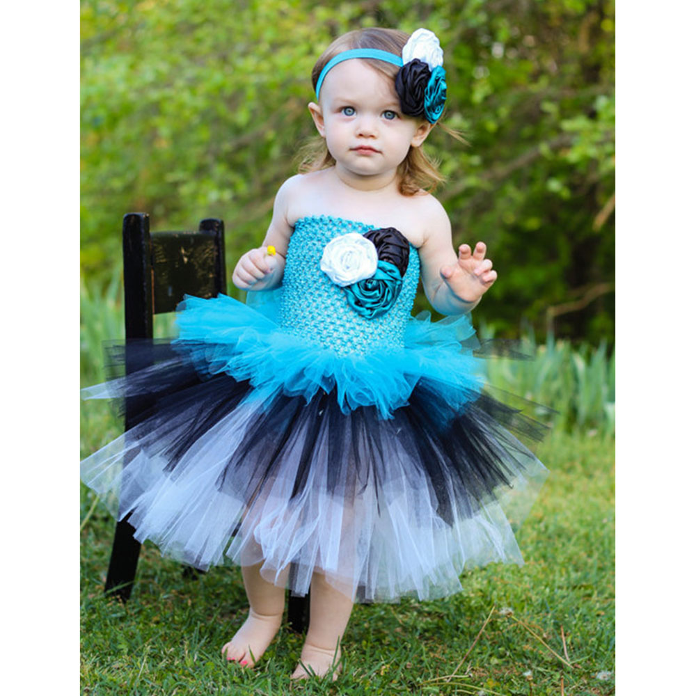 Fairy Girl Baby Tutu Dress Kids Fluffy Tulle Tinkerbell Cosplay ...