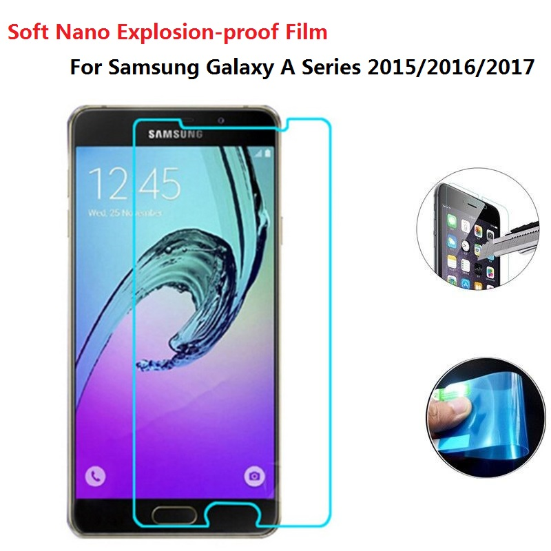 Newest Soft Explosion-proof Nano Protection Film Foil For Samsung Galaxy A3 A5 A7 2016 A310 A510 Cover Not Tempered Glass
