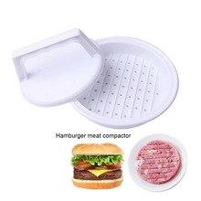 5 шт. круглый Форма гамбургер Пресс Еда-Класс Пластик гамбургер мяса говядины гриль гамбургер Пресс Пэтти чайник Форма для кухни инструмент