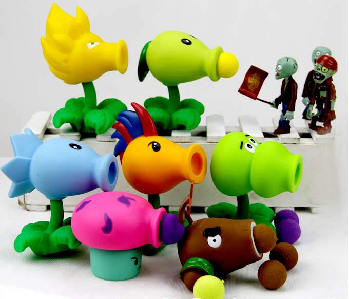 2015 new Game PVZ Plants vs Zombies Peashooter PVC Action Figure Model Toys 7 Style 10CM Plants Vs Zombies Toys For Baby Gift image