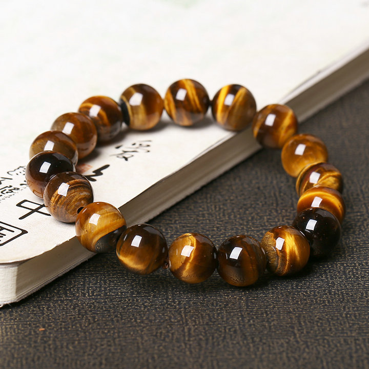 Natural Tiger's Eye Stone Bead Bracelet 2