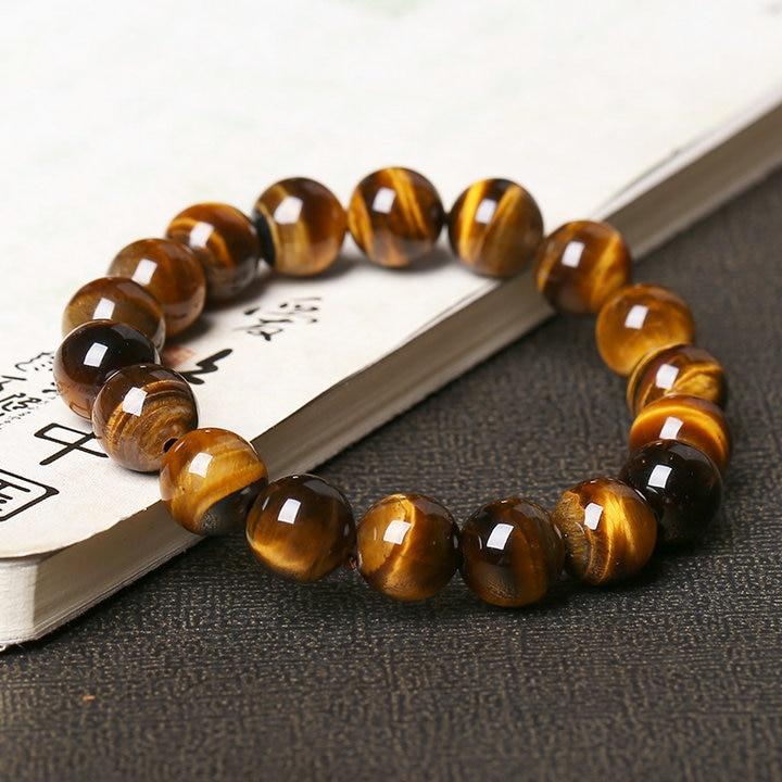Natural Tiger's Eye Stone Bead Bracelet 2