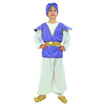 Umorden Kids Boys India Arab Aladdin Prince Cosplay Stage Performance Masquerade Party Halloween Costumes Arabian Costume Suit