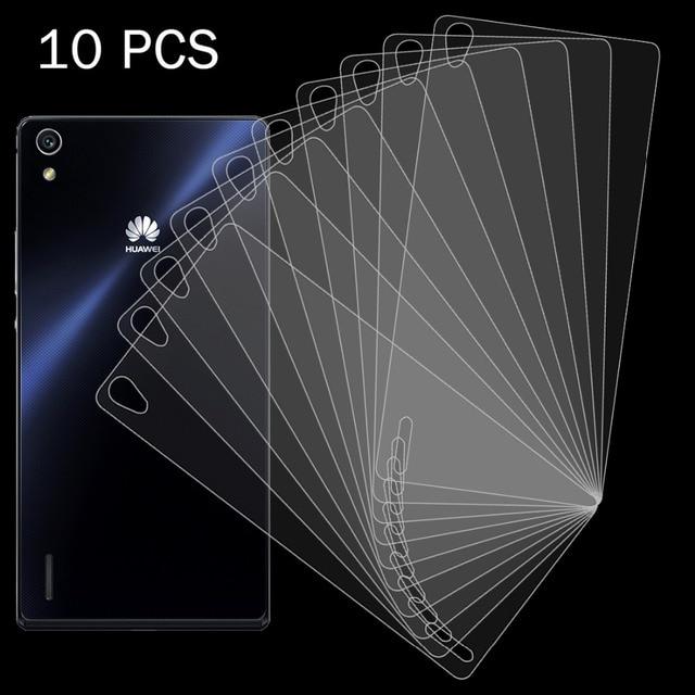 10 unids volver vidrio templado a prueba de explosiones protector de pantalla de cine para huawei p7 teléfono móvil