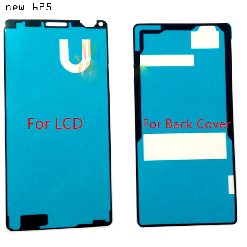 2 pcs set stick waterproof sticke glue for sony xperia z3 compact m55w battery back cover lcd. Black Bedroom Furniture Sets. Home Design Ideas