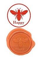 Bee Happy Vintage Custom Luxury Wax Seal Sealing Stamp Brass Peacock Metal Handle Sticks Melting Spoon