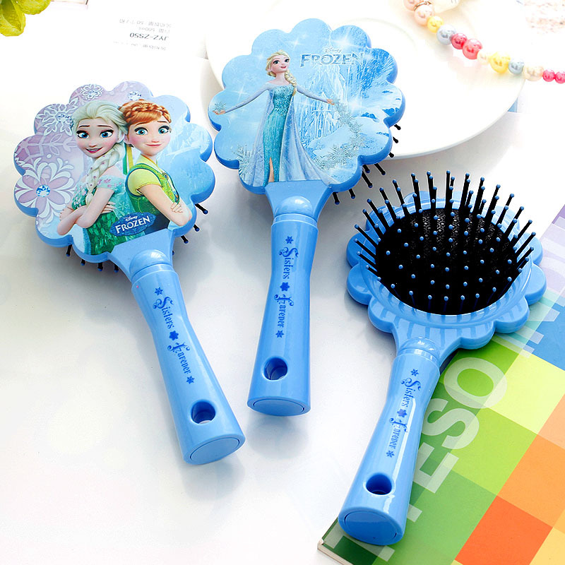 цены Disney Detangling Kids Gentle Anti-static Brush Tangle Bristles Handle Tangle Comb Curly Hair Brush Combs