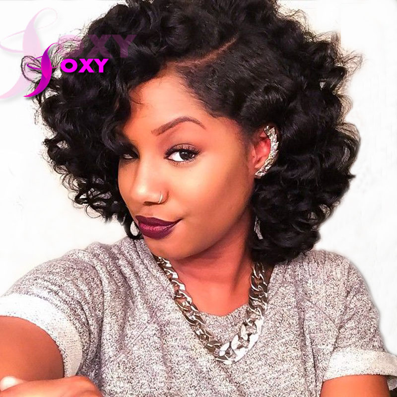 Short Human Hair Wigs Curly Lace Front Human Hair Bob Wigs For Black Women  Unprocessed Brazilian Lace front Wig On Sale-in Human Hair Lace Wigs from  Hair ... d4d40560a014