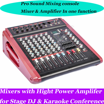 MICWL 2800W Power Amplifier USB Mixer Microphone Mixing Console 2 in 1 Function 8CH 10 CH 12CH 14CH