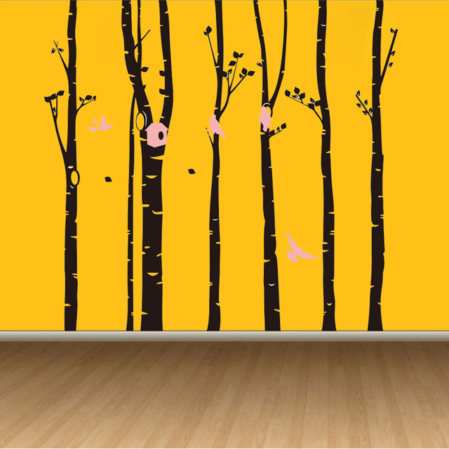 Birch Trees Wall Decals Tree Wall Sticker Removable Black Bbirch Wall  Stickers Trees Baby Nursery Room