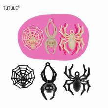 Gadgets-Spider Silicone Mold Flexible Polymer Clay Food Safe Molds Soap Fondant Wax Pendant Chocolate Cookies Mold недорого
