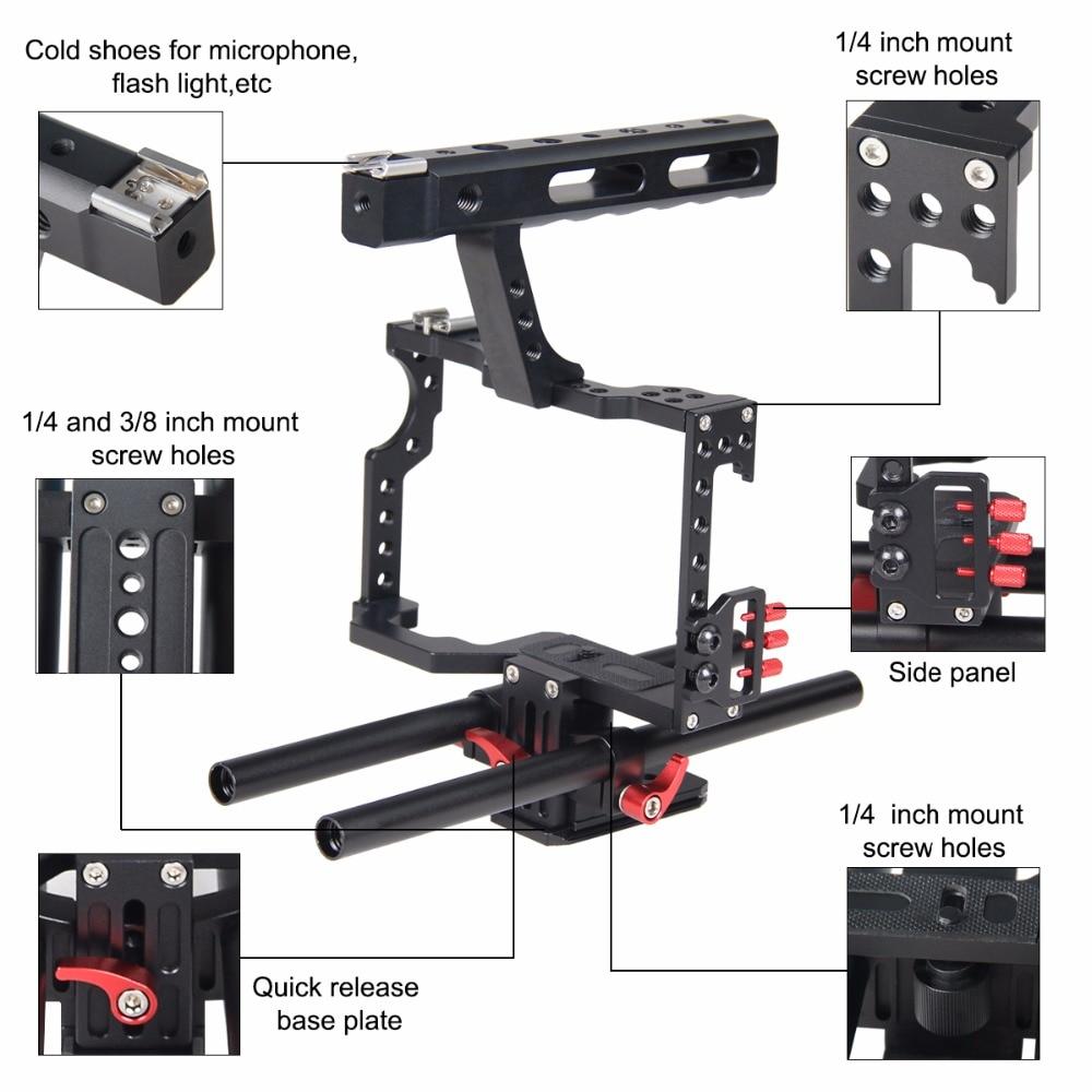 Mbështetës për stabilizuesin e kafazit me kamera DSLR me sistem - Kamera dhe foto - Foto 3