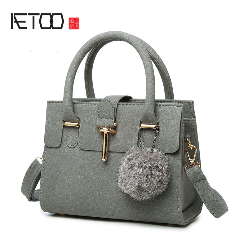 AETOO 2017 new women's bag Korean version of the shoulder bag spring simple matte diagonal package handbag retro small package b retro small square korean version of the printing bag graffiti shape shoulder mini oblique cross female package