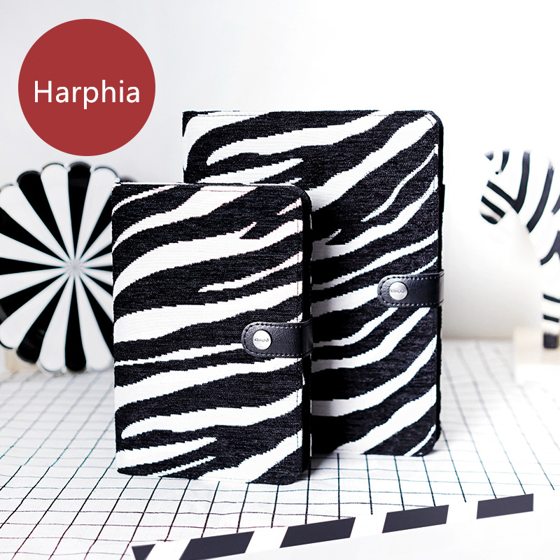 A5 A6 Notebook Wool Felt Creative Loose Leaf Refillable Spiral Dairy Planner Zebra Travel Journal Notepad Light Harphia a5 a6 vintage loose leaf refillable wool felt spiral weekly planner notebook filofax memo travel journal diary notepad