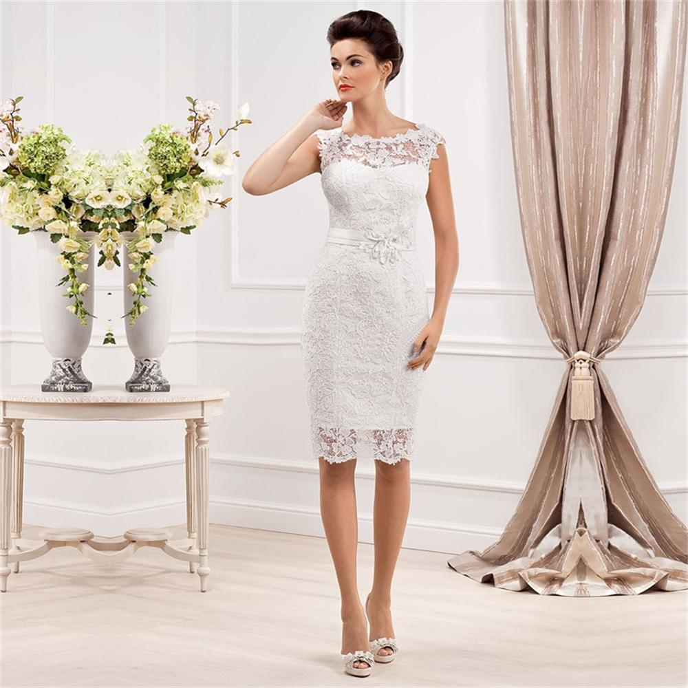 Dress chic picture more detailed picture about custom for Short elegant wedding dresses