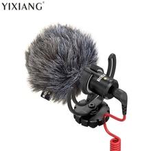 YIXIANG Jechał VideoMicro Kompaktowy W Aparacie Nagrywania Mikrofon dla Canon Nikon DSLR Camera Lumix Sony DJI Osmo Microfone