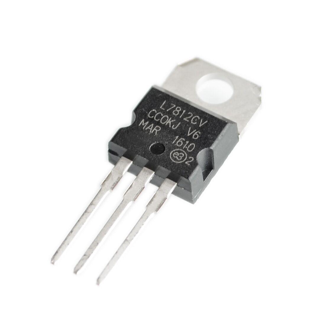 10PCS L7812CV TO-220 L7812 LM7812 7812 Positive-Voltage Regulators10PCS L7812CV TO-220 L7812 LM7812 7812 Positive-Voltage Regulators