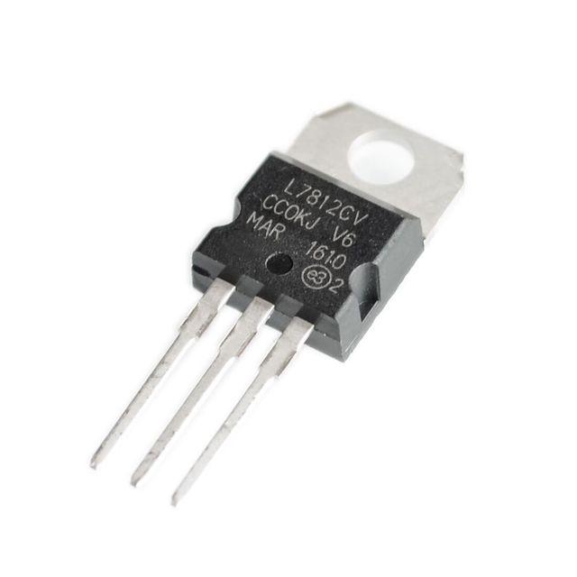 10PCS L7812CV TO-220 L7812 LM7812 7812 Positive-Voltage Regulators