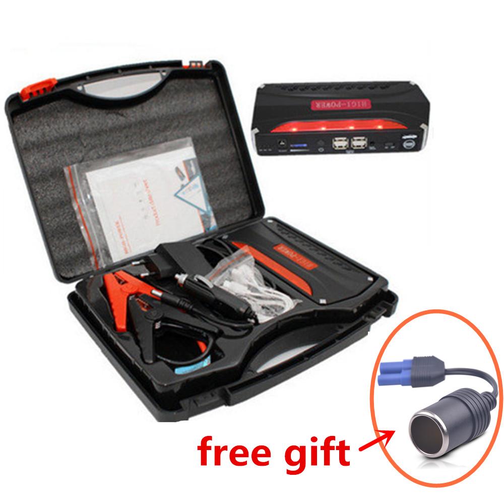 Prix pour Haute Capacité De Voiture d'urgence Jump Starter 12 V Pic 600A Mini Portable D'urgence Chargeur De Batterie D'appoint pour L'essence et Diesel voiture